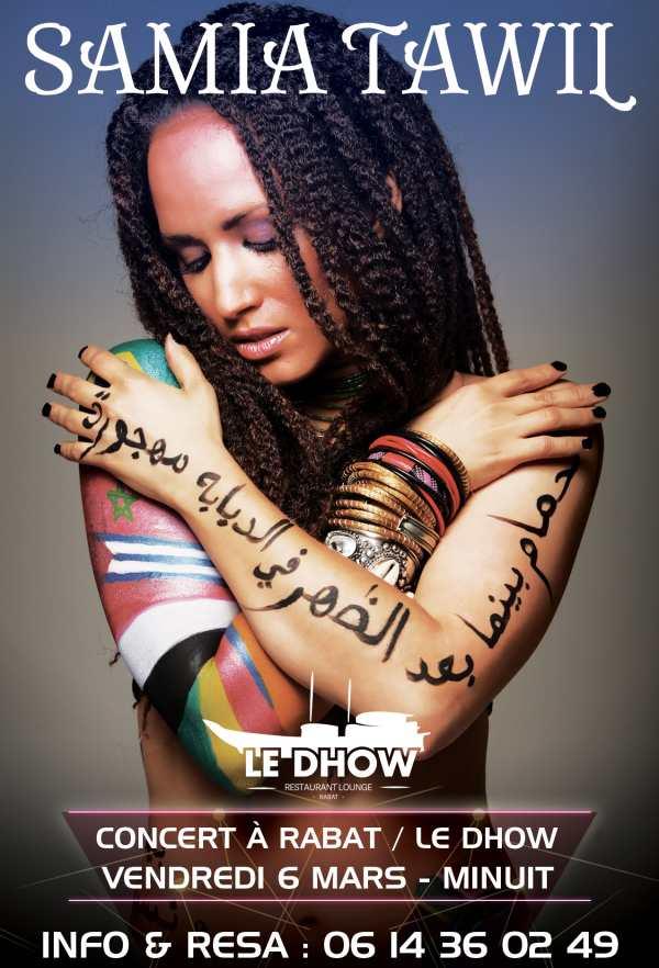 Samia Tawil en concert au Dhow au Maroc