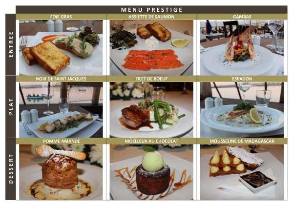 Restaurant Rabat - Menu Prestige au Dhow
