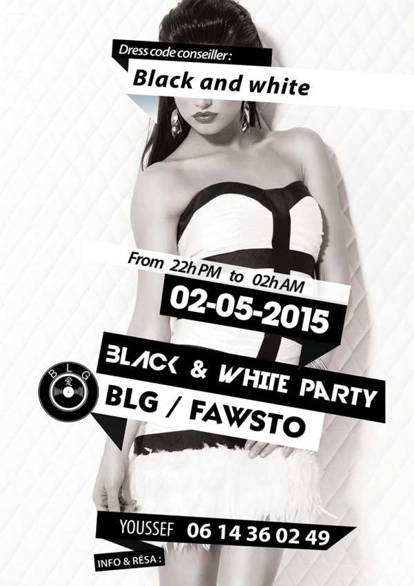 Black & Whire Party au Dhow avec BLG & FAWSTO