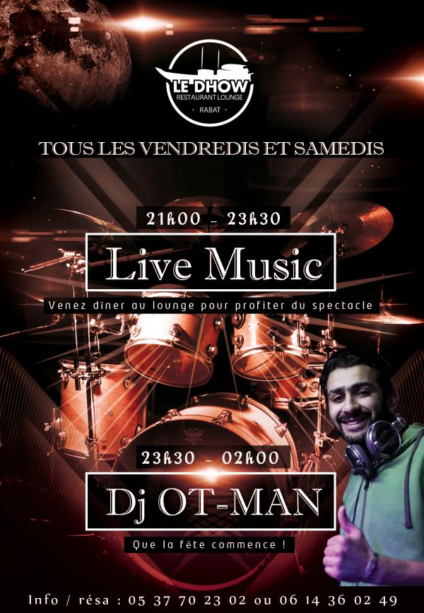 Live music à Rabat au Dhow