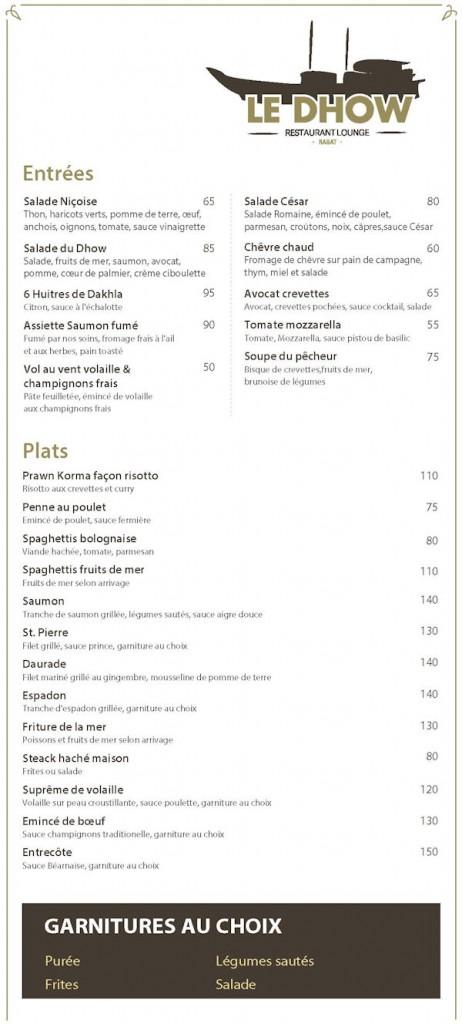 Carte restaurant février 2017 page 1